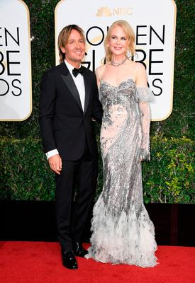 Musician Keith Urban and actress Nicole Kidman attend the 74th Annual Golden Globe Awards at The Beverly Hilton Hotel on January 8, 2017 in Beverly Hills, California.  (Photo by Frazer Harrison/Getty Images)