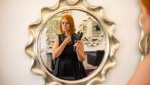 Reflecting: Hairdresser Lisa Eccles, owner of Zinc Hair and Beauty in Kilmainham, Dublin. Photo: Mark Condren