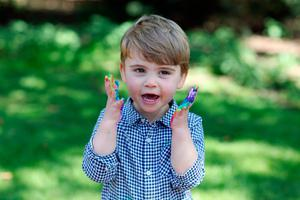Undated handout photo released by Kensington Palace of Prince Louis, who celebrates his second birthday Thursday, taken by his mother, the Duchess of Cambridge