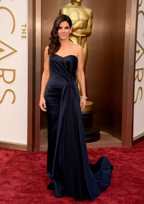 Actress Sandra Bullock attends the Oscars held at Hollywood & Highland Center on March 2, 2014 in Hollywood, California.  (Photo by Jason Merritt/Getty Images)