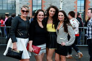 Chris Morgan, Sharon Smithers, Karen O'Sullivan and Aine O'Byrne from Cork at the O2 to see Beyonce