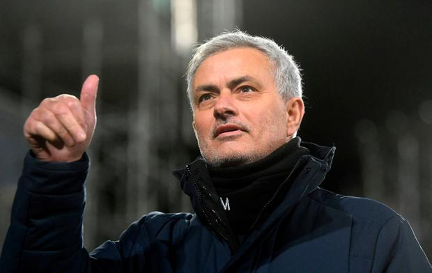 Jose Mourinho will take over as Roma manager in the summer. Neil Hall/PA Wire.