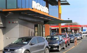 Reopening: McDonald's will encourage contactless payment as it opens six of its drive-throughs next week. Photo: Frank McGrath