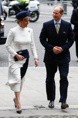 Britain's Prince Edward and Sophie, Countess of Wessex, arrive for the annual Commonwealth Service at Westminster Abbey in London, Britain March 9, 2020. REUTERS/Henry Nicholls