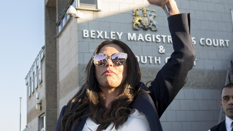 Katie Price after she received a driving ban (Rick Finler/PA)