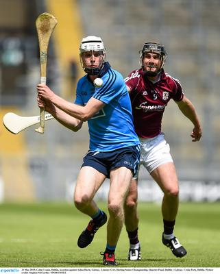 Colm Cronin, Dublin, in action against Aidan Harte, Galway. Leinster GAA Hurling Senior Championship, Quarter-Final, Dublin v Galway. Croke Park, Dublin. Picture credit: Stephen McCarthy / SPORTSFILE