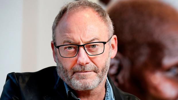Game of Thrones Actor Liam Cunningham at the opening of his Photographic Exhibition 'Dignity' at The Solomon Gallery in association with World Vision. Picture: Steve Humphreys