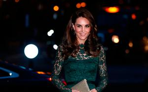 Britain's Catherine, Duchess of Cambridge, arrives to attend the 2017 Portrait Gala, at the National Portrait Gallery in London on March 28, 2017