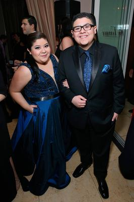 Actors Raini Rodriguez and Rico Rodriguez attend The Weinstein Company & Netflix's 2017 SAG After Party in partnership with Absolut Elyx at Sunset Tower Hotel on January 29, 2017 in West Hollywood, California. (Photo by Phillip Faraone/Getty Images for The Weinstein Company/Netflix)