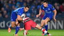 Ben Te'o, Leinster, is tackled by Andries Strauss, Edinburgh. Guinness PRO12, Round 7, Leinster v Edinburgh. RDS, Ballsbridge, Dublin. Picture credit: Stephen McCarthy / SPORTSFILE