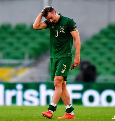 Enda Stevens of Republic of Ireland following his side's defeat during the Nations League match against Finland at the Aviva Stadium. Photo: Sportsfile