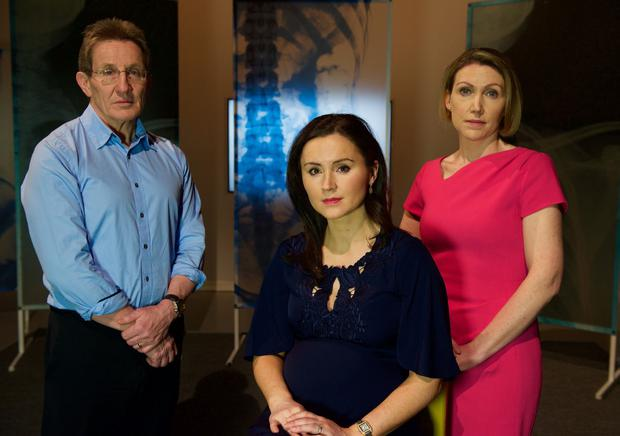 Professor Niall Moyna, Dr Nina Byrnes and Dr Sinead Beirne. Photo: Doctor in the House / TV3