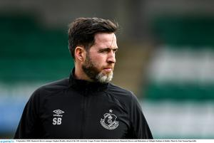Shamrock Rovers manager Stephen Bradley doesn't expect to see fans back at Tallaght Stadium for the rest of the season. Photo by Eóin Noonan/Sportsfile
