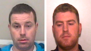 Undated handout photo issued by Essex Police of Ronan Hughes (right), 40 and his brother Christopher Hughes, 34, both from Co Armagh in Northern Ireland. Photo credit: Essex Police/PA Wire