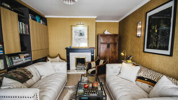 Gitte Trench's Country Cottage: Gitte said her favourite spot, a yellow interior lounge with a high ceiling, was a place that really made her feel happy. Photo Credit: RTE