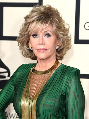 Actress Jane Fonda attends The 57th Annual GRAMMY Awards at the STAPLES Center on February 8, 2015 in Los Angeles, California.  (Photo by Jason Merritt/Getty Images)