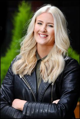 Reporter Aoife Walsh who had her colour and hair done by Alan Keville of Alan Keville Hair in Powerscourt Townhouse. Photo by Steve Humphreys, 29th June 2020