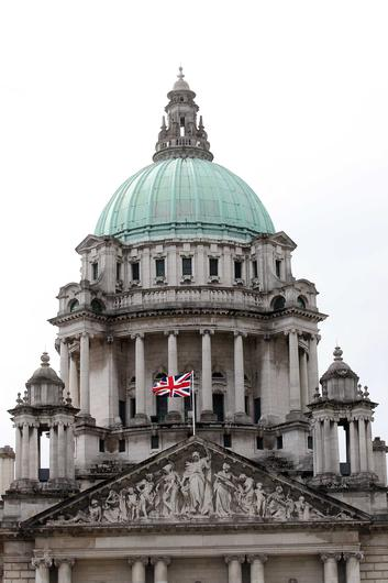 Protesters want the Union flag flown every day from City Hall