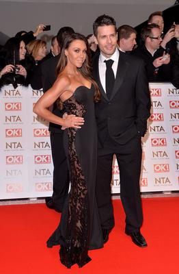 Michelle Heaton and Hugh Hanley attend the National Television Awards at 02 Arena