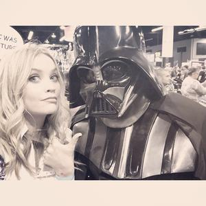 Laura Whitmore with Darth Vader