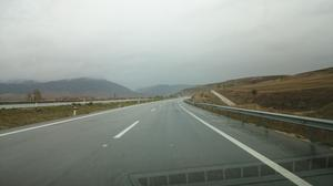The rain started long before the border crossing