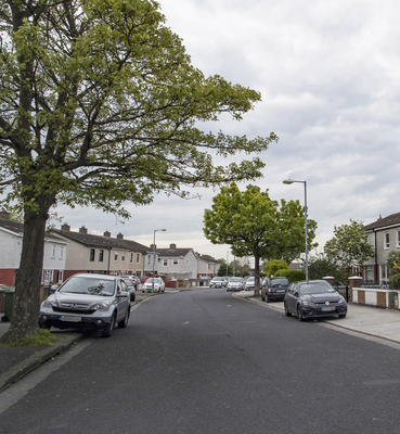The taxi driver was attacked in Rutland Grove, Crumlin, shortly after midnight on Monday