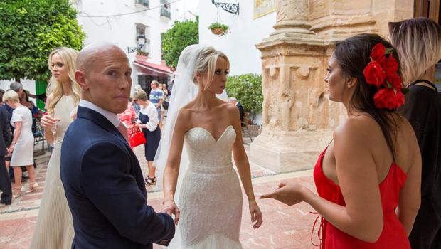 Debbie and Peter Stringer with Nadia Forde. Picture: SOLARPIX.COM