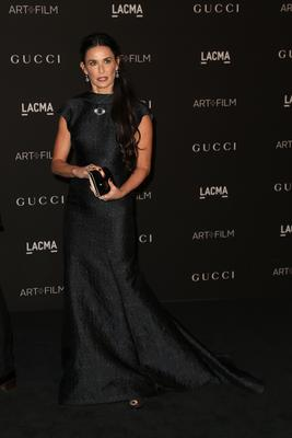 Actress Demi Moore attends the 2014 LACMA Art + Film Gala honoring Barbara Kruger and Quentin Tarantino presented by Gucci at LACMA