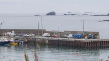 Malin Head pier where the victims were brought ashore after their fishing boat capsized. Photo: North West Newspix