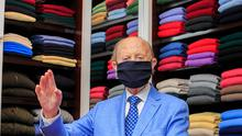 Tom Monaghan, of Monaghans Cashmere,  in Dublin's city centre Photo: Gareth Chaney/Collins