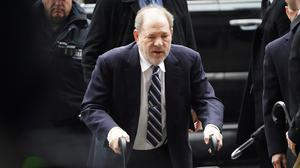 Film producer Harvey Weinstein arrives at  New York Criminal Court during his ongoing sexual assault trial in the Manhattan borough of New York City, New York, U.S., February 13, 2020. REUTERS/Carlo Allegri