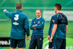 Ireland manager Martin O'Neill will prioritise game-time in the friendly against Oman for those in his squad who have not been involved with their clubs over the past month. Photo: David Maher / SPORTSFILE