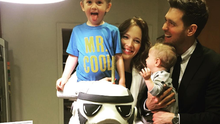 Michael Buble, wife Luisana and sons Noah and Elias. Photo: Instagram