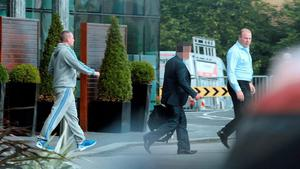 BLANCHARDSTOWN HOTEL: Left, serial criminal Thomas 'Nicky' McConnell, and right, Jim Mansfield pictured in August 2015
