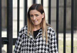 Jennifer Quinn, of Tallaght, Dublin, pictured leaving the Four Courts yesterday after she accepted a Circuit Civil Court settlement of €75,000 damages on behalf of her daughter, Madison. Pic: Courts Collins