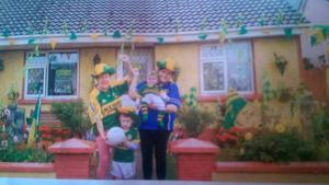 I want to nominate my mom to the tickets she is a huge fan. As you can see in the pictures. She lives next to Fitzgerald Stadium Killarney and always has her house flying the Green & Gold of the Kingdom. It would be a dream come through. Fingers crossed. Janet Breen