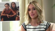 Kristin Cavallari and inset is her with her late brother Michael as children