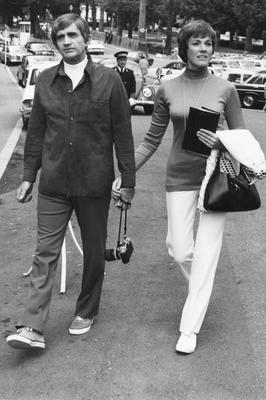 Blake Edwards and Julie Andrews on vacation in Monte Carlo Monaco, Monte Carlo - 1972