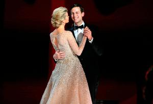 "Ivanka Trump dances with her husband Jared Kushner at  U.S. President Donald Trump's ""Liberty"" Inaugural Ball in Washington, DC January 20, 2016.   REUTERS/Brian Snyder"