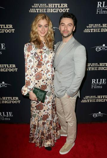 Caitlin FitzGerald and Aidan Turner. Photo: Willy Sanjuan/Invision/AP/Shutterstock