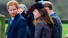Prince Harry, Catherine, Duchess of Cambridge and Prince William, Duke of Cambridge depart after attending the Sunday service at St Mary Magdalene Church, Sandringham on December 27, 2015 in King's Lynn, England. (Photo by Max Mumby/Indigo/Getty Images)