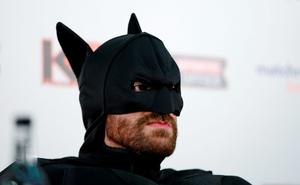 Tyson Fury in fancy dress during the press conference Action Images via Reuters / Andrew Couldridge Livepic