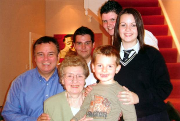 Eamonn with mum Josie and kids Declan, Jack, Niall and Rebecca
