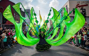 Limerick St. Patrick's Festival featured the giant st. Patricks day parade. Over 80, 000 people lined the streets to watch the Spring Themed parade makes its way along O'Connell St. Picture: Alan Place/FusionShooters.