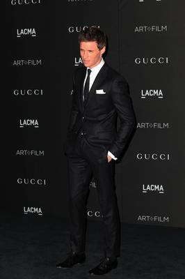 Actor Eddie Redmayne attends the 2014 LACMA Art + Film Gala honoring Barbara Kruger and Quentin Tarantino presented by Gucci at LACMA