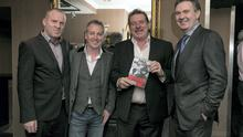 Acting editor of the Irish Independent Ian Mallon, with author Paul Williams and Steve Collins and Editor in Chief Stephen Rae. Photo: Arthur Carron