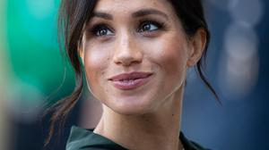 Meghan, Duchess of Sussex arrives at the University of Chichester's Engineering and Digital Technology Park during an official visit to West Sussex on October 3, 2018 in Chichester, United Kingdom