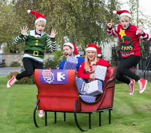 Brian McFadden and Karen Koster will co-host The Christmas Toy Show on TV3 with the help/hindrance of Jedward