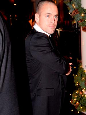 Joe Cole arrives for the wedding reception of Frank Lampard and Christine Bleakley at the Arts Club in Mayfair, London