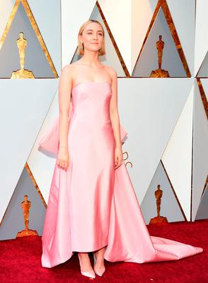 Actress Saoirse Ronan arrives for the 90th Annual Academy Awards on March 4, 2018, in Hollywood, California.  / AFP PHOTO / VALERIE MACONVALERIE MACON/AFP/Getty Images